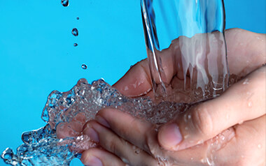 water-in-hands