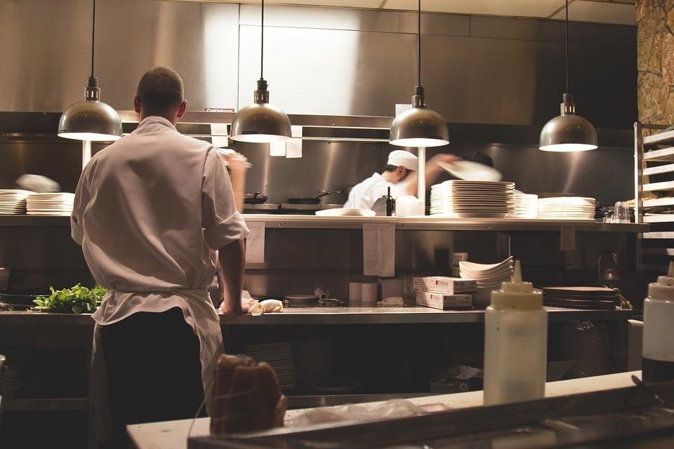 UV Lamp in Restaurant Kitchen